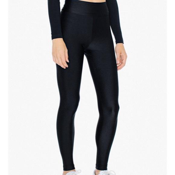 7caf55a9b65d1a American Apparel Pants | High Waist Shiny Leggings | Poshmark american  apparel leggings shiny